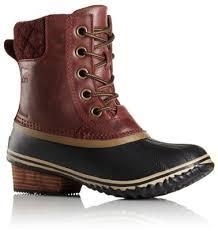 womens duck boots canada s slimpack ii lace waterproof leather insulated boot sorel