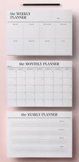 agenda sur bureau planner minimal a4 agenda insère 12 par crossbowprintables sur