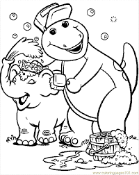 barney cartoons coloring