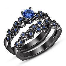 black and blue wedding rings blue wedding ring set ebay