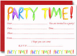 free printable birthday party invitations choice image