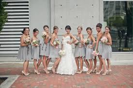 light gray bridesmaid dresses light grey chiffon bridesmaid dresses with mint bows peachy pink