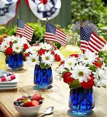 day table decorations 4th of july white and blue patriotic decor blue food holidays
