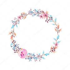 flower wreath watercolor flower wreath stock photo lemuana 80760046