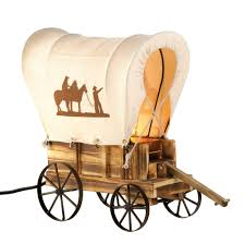 cowboy home decor old western style prarie cowboy wagon buggy table lamp