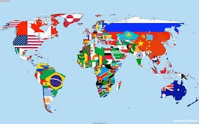 World Map Desktop Wallpaper by Continent Flags Maps World Map Walldevil