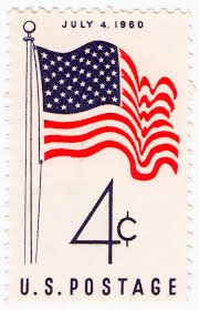 Us Flag 1860 U S Postage Stamps Of 1960