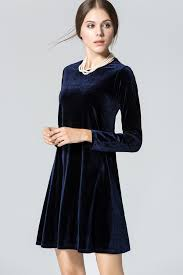 velvet dress blue velvet sleeve casual dress sleeve dresses