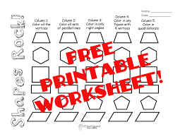shapes worksheet squarehead teachers