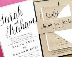 layered wedding invitations layered invitation etsy