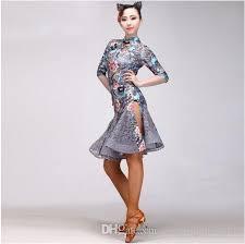 2017 latin dance dress fringe women latin dress dancing clothes