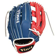 Blue White And Red Flags Bmb Ob Red White And Blue With Flag Baseball Gloves Softball