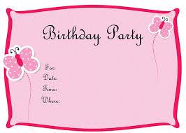 birthday invitation card birthday invitations for girls