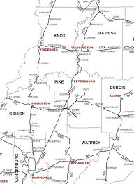 indiana map us transportation in county indiana