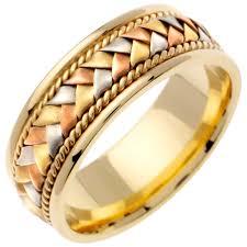 wedding ring depot 14k tri color gold basket braid band 8 5mm 3000144 shop at