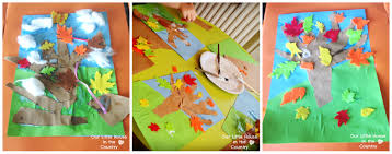 autumn tree collages fall activities for our