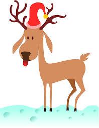 clipart cartoon reindeer