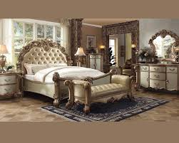 Bedroom Furniture Sets Full by Bedroom Set Vendome Gold By Acme Furniture Ac23000set