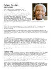 nelson mandela official biography english exercises nelson mandela s biography