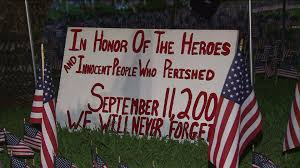 Memorial Garden Flags Oc Firefighter Pays Tribute To 9 11 Victims With Large Memorial