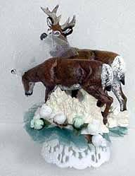 buck and doe cake topper animal forms cake tops