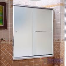 semi frameless bath shower sliding door shine bathrooms semi frameless bath and shower door 2