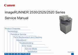 canon imagerunner 2530 2525 2520 series service u0026 repair manual