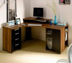 furniture elegant small computer corner desk with file drawers