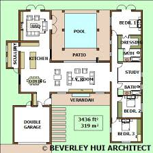 House Plans With Pools Single Storey House Plans Bh Architects Cape Town South Africa
