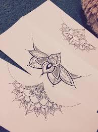 beautiful sternum tattoo sketch
