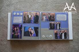 scrapbook photo albums scrapbook wedding album of valima reception at vibiana