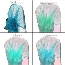 turquoise chair sashes online shop green color 50pcs bag 65cm 275cm wedding