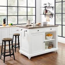 White Island Kitchen Kitchen Island With 4 Stools Wayfair