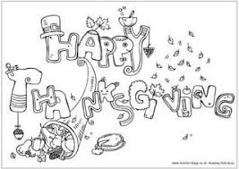 thanksgiving coloring pages and cutouts