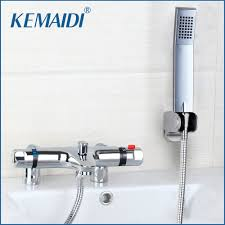 compare prices on bath shower mixer online shopping buy low price us thermostatic faucet anti scald bathroom bath shower mixers with hand shower thermostatic faucet chrome