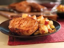 pan seared pork chops with maple gravy u0026 apple bacon hash pork