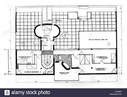 blueprint of a villa in garches roof of the garden two guests