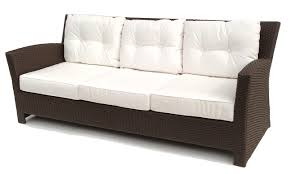 Sofa Seat Cushions by White Linen Seat Cushions Pad Which Mixed With Outdoor Dark Brown
