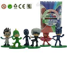 6x pj masks catboy owlette gekko cloak figure kid toy pvc xmas