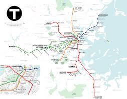 Boston Map Pdf by Boston Subway Map
