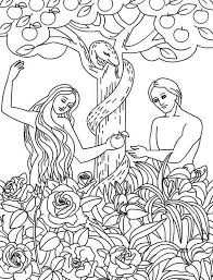 adam eve disobey god command coloring jpg 600 786