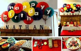 room decor ideas for birthday cake and decorations with at home