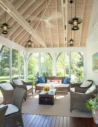 enclosed porch design front porch on lake of the isles traditional