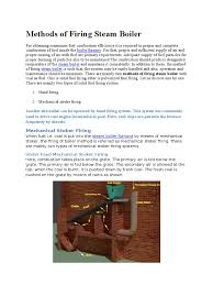 boiler operation engineer study guide methods of firing steam boiler boiler combustion