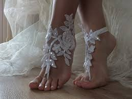 barefoot sandals for wedding white pearl wedding barefoot sandals byvivienne on artfire
