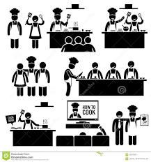 clipart cuisine cuisinier clipart de chef de cours de cuisine illustration de