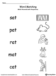 rhyming words match rhyming words printable worksheets and phonics