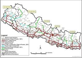 Nepal On A World Map by 2 3 Nepal Road Network Logistics Capacity Assessment Wiki