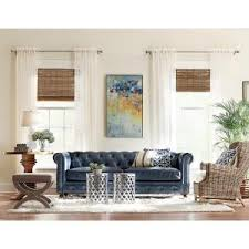 Blue Sofa Set Living Room Home Decorators Collection Gordon Blue Leather Sofa 0849400310