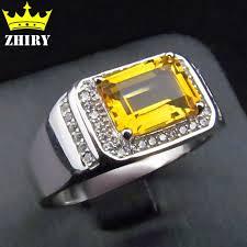 sterling gem rings images Men ring solid 925 sterling silver natural citrine gem genuine jpg